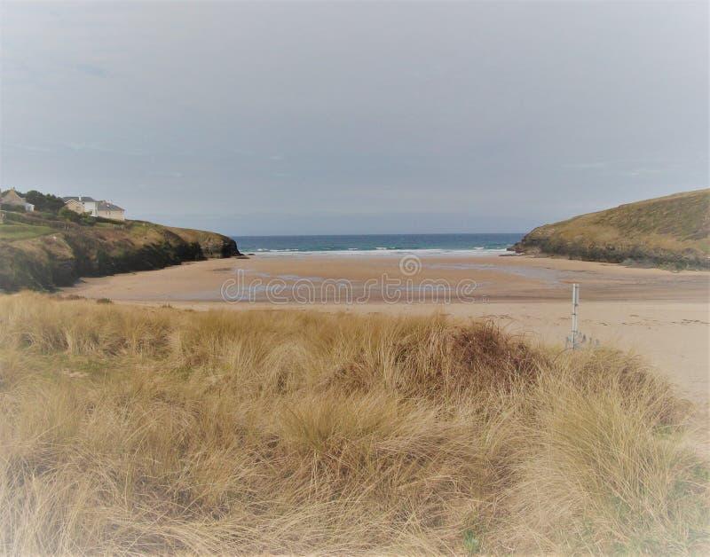 ` di Sandy Cornish Beach del ` fotografie stock libere da diritti