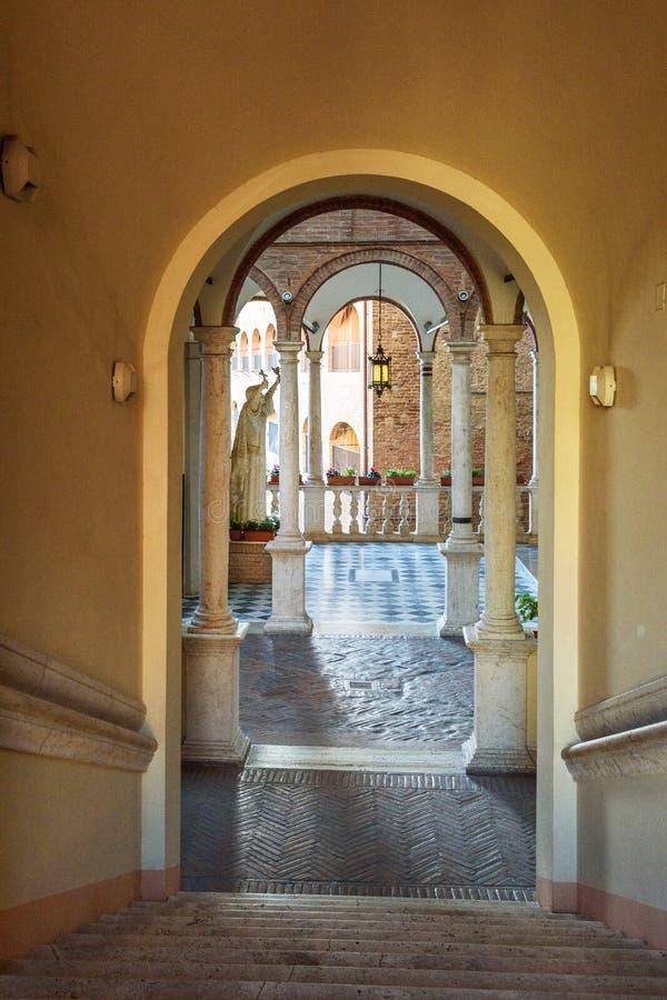 Di Santa Caterina, Kerk van Santuariocasa van Heilige Catherine Siena Italië royalty-vrije stock fotografie
