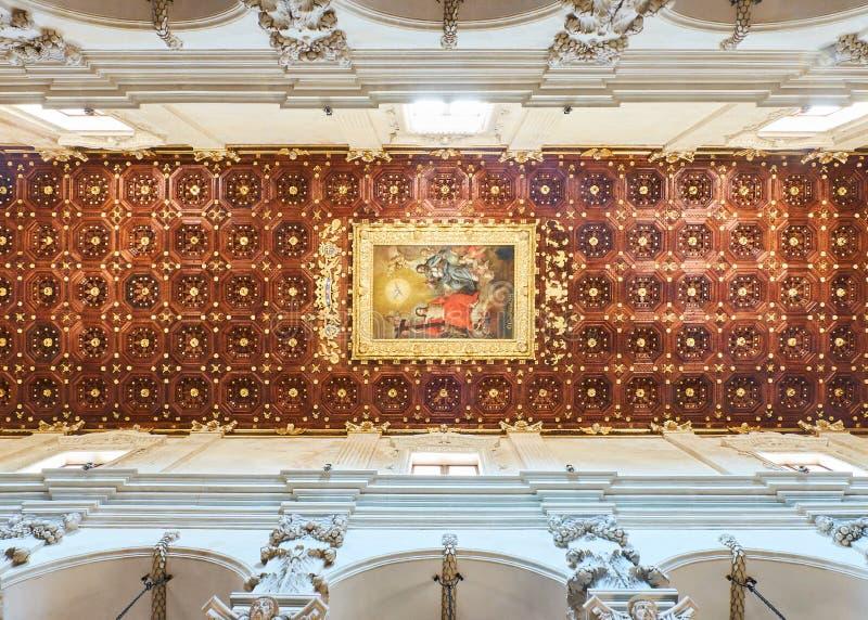 Di Santa Croce da basílica de Lecce Puglia, Itália fotos de stock