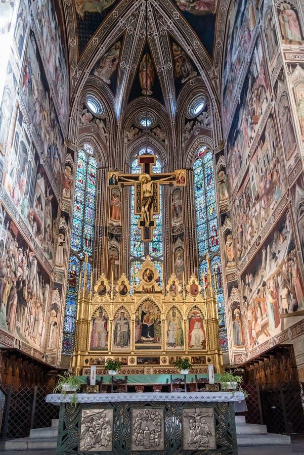 Di Santa Croce de la basílica en Florencia imagen de archivo