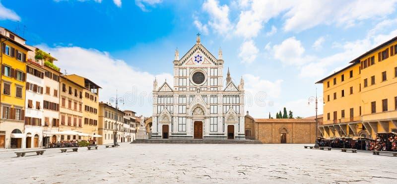 Di Santa Croce de la basílica en Florencia, Toscana, Italia fotos de archivo libres de regalías