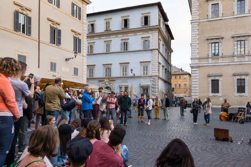 Di Santa Maria аркады в Trastevere стоковая фотография