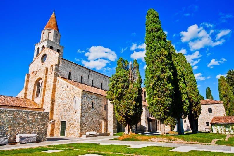 Di Santa Maria Assunta van de basiliek in Aquileia stock fotografie