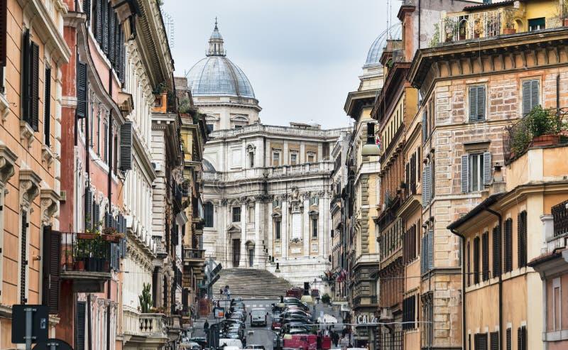 Di Santa Maria da basílica, Roma fotografia de stock