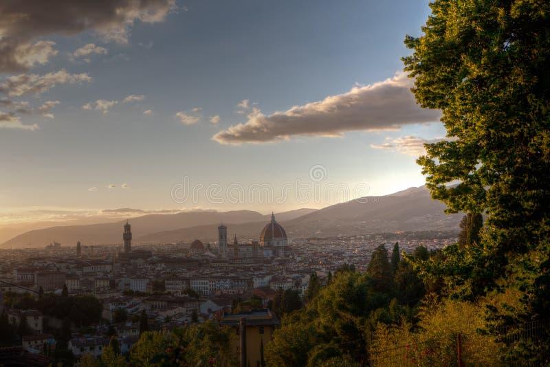 Di Santa Maria del Fiore de Palazzo Vecchio Domo Cathedrale di Basílica, Florença, Firenze, Toscânia, Itália foto de stock