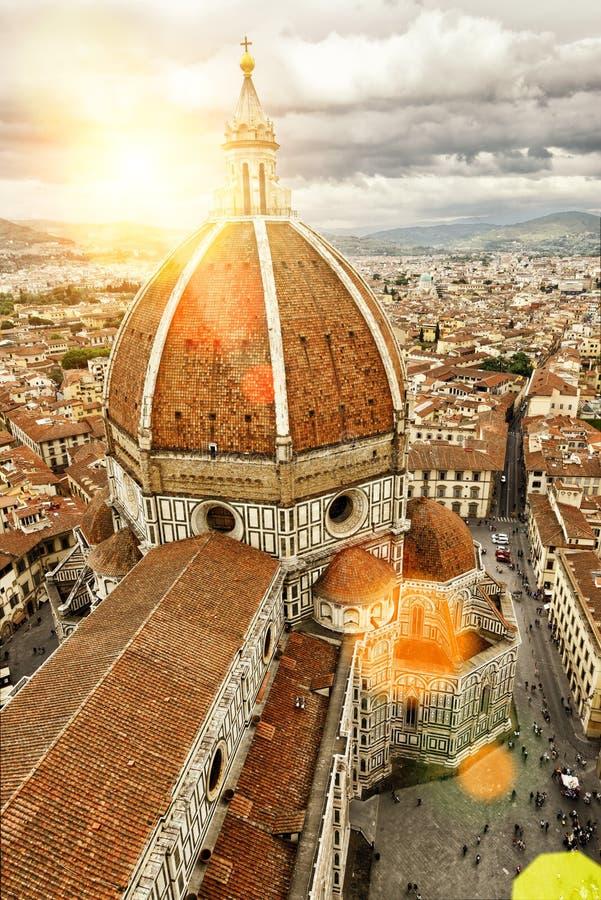 Di Santa Maria del Fiore (duomo) della basilica a Firenze fotografia stock