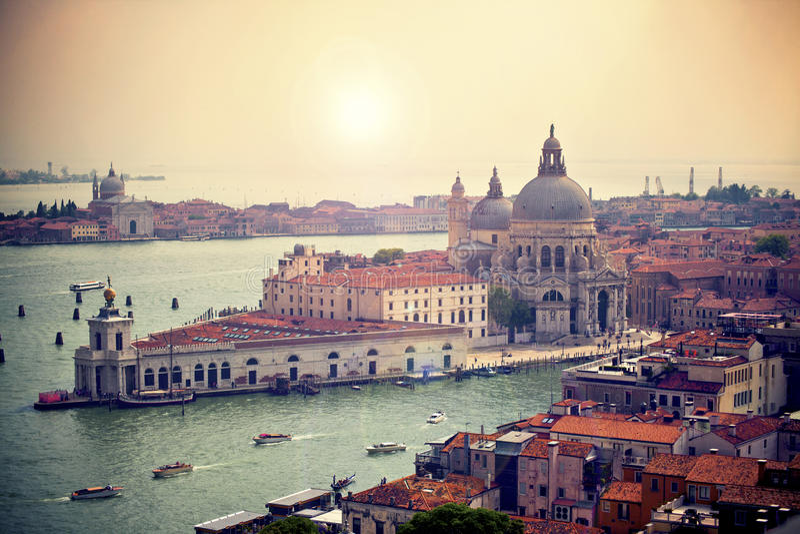 Di Santa Maria della Salute da basílica, Veneza, Itália fotografia de stock