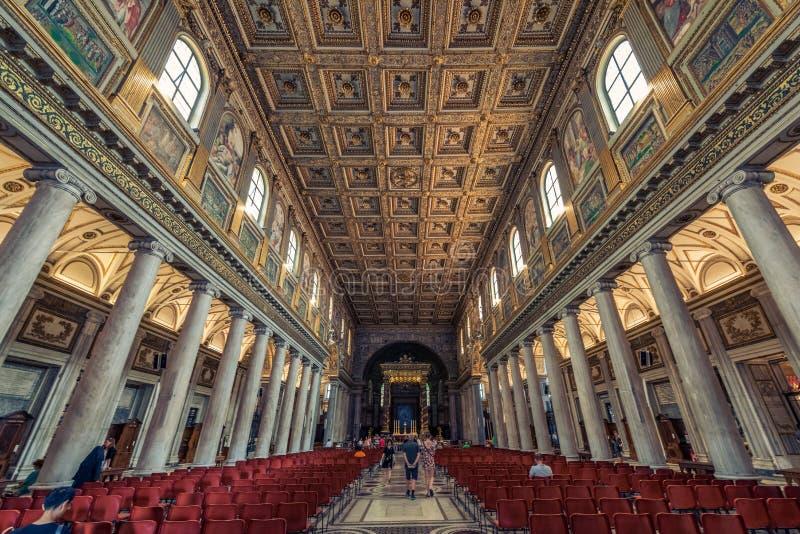 Di Santa Maria Maggiore базилики - об интерьере церков стоковое изображение rf