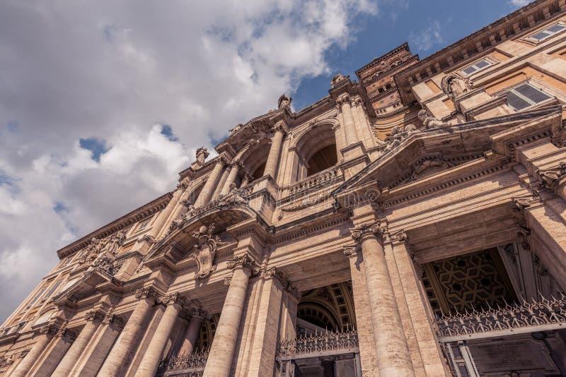 Di Santa Maria Maggiore - architecture de basilique photo libre de droits