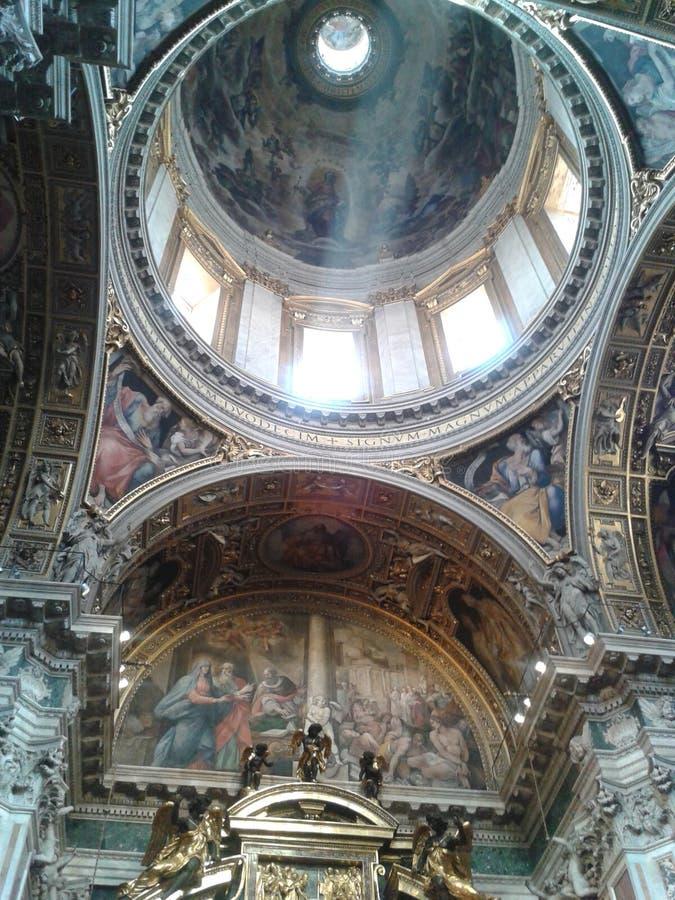 Di Santa Maria Maggiore, Castel Gandolfo, dôme, bâtiment, métal, basilique de basilique photographie stock