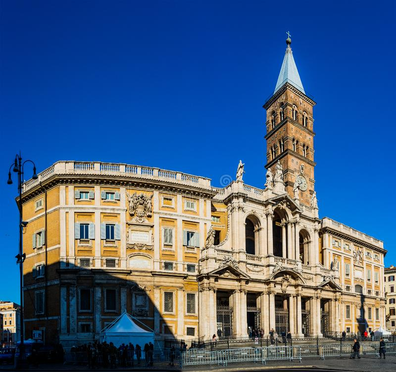 Di Santa Maria Maggiore de basilique à Rome, Italie image stock