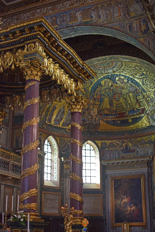 Di Santa Maria Maggiore Rome, Italie de basilique images libres de droits