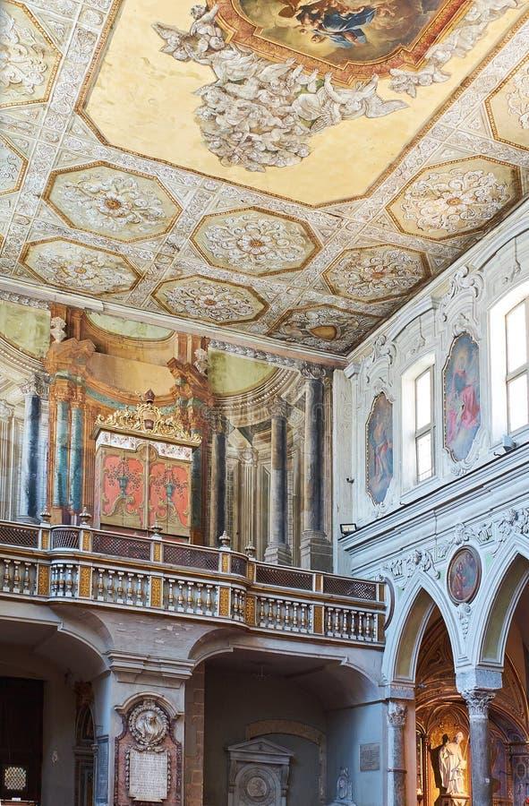 Di Santa Restituta da basílica em di Napoli do domo Nápoles, Italy imagens de stock