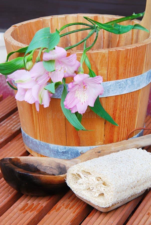 Di sauna vita ancora immagini stock libere da diritti
