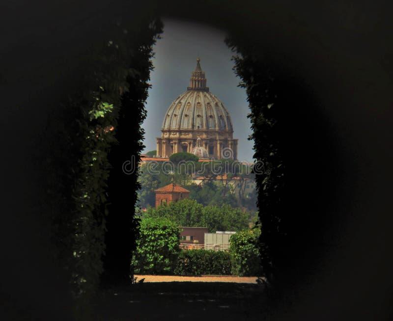 Di secretos Malta de Cavalieri del ojo de la cerradura de Roma foto de archivo libre de regalías