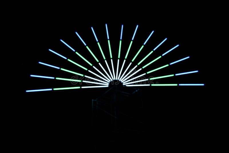 di semicerchio colorato Multi delle luci immagini stock