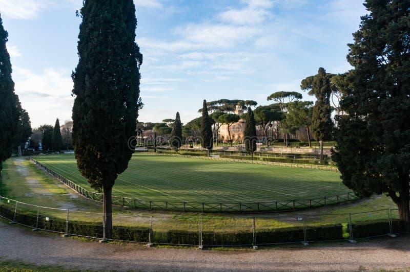 Di Siena, chalet Borghese, Roma, Italia de la plaza fotos de archivo