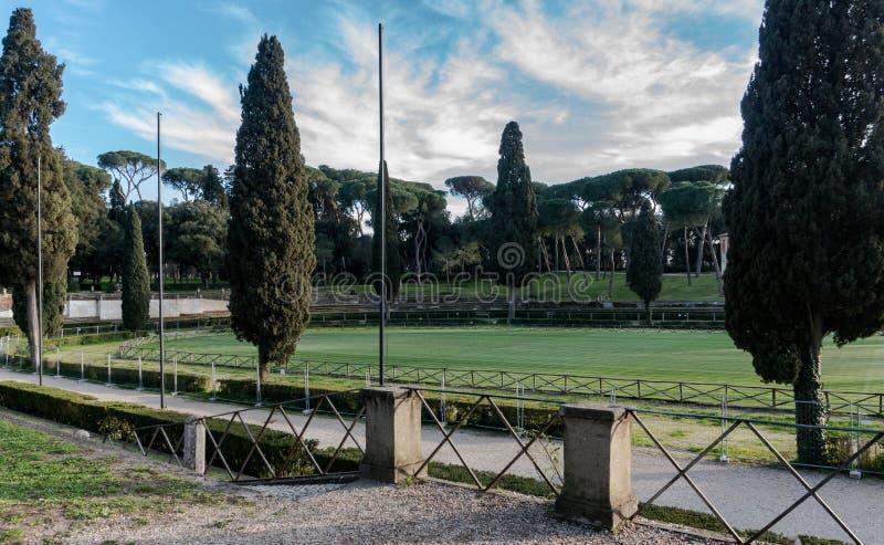 Di Siena, chalet Borghese, Roma, Italia de la plaza fotografía de archivo libre de regalías