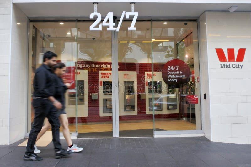 24/7 di succursale bancaria di Westpac a Auckland Nuova Zelanda fotografia stock libera da diritti