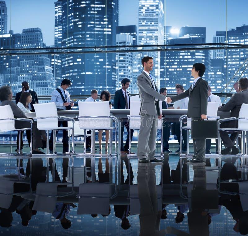Di Team Teamwork Meeting Concept della stretta di mano gente di affari immagini stock