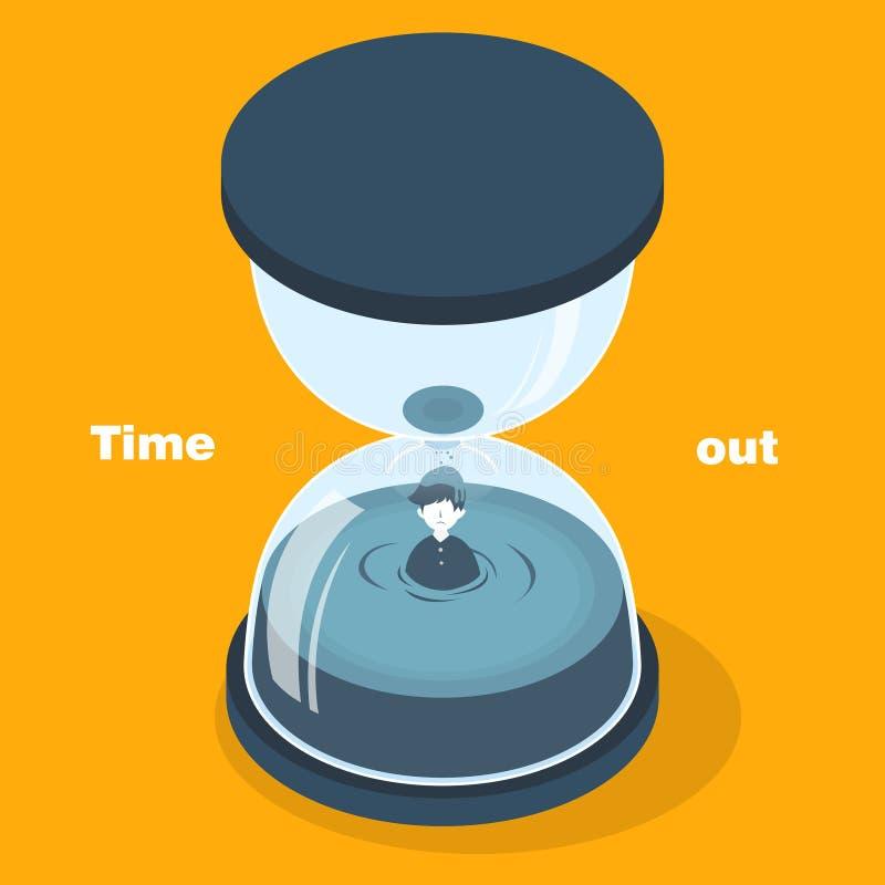 Di tempo concetto fuori illustrazione di stock