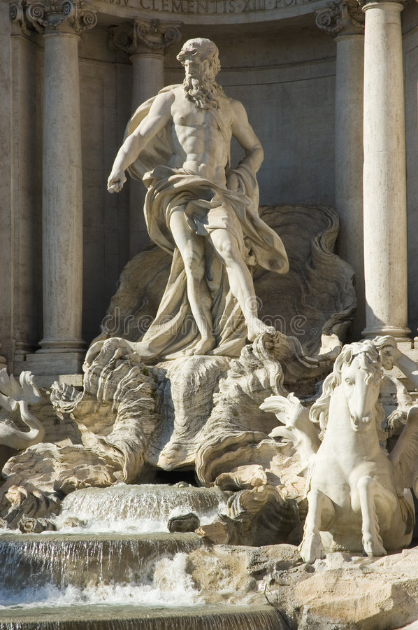 Download Di Trevi fountain details stock image. Image of trevi, travel - 665433