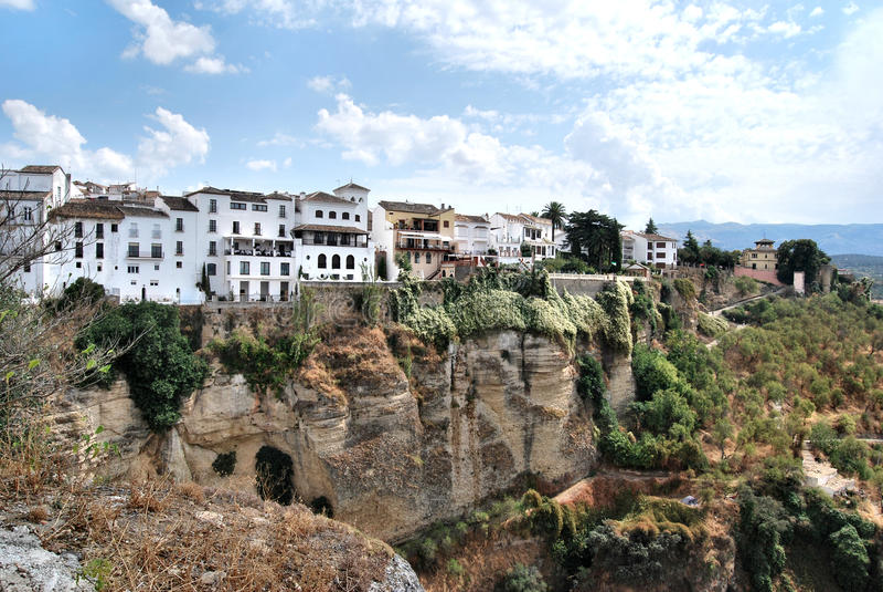 Di van Città Ronda - Spagna stock afbeelding