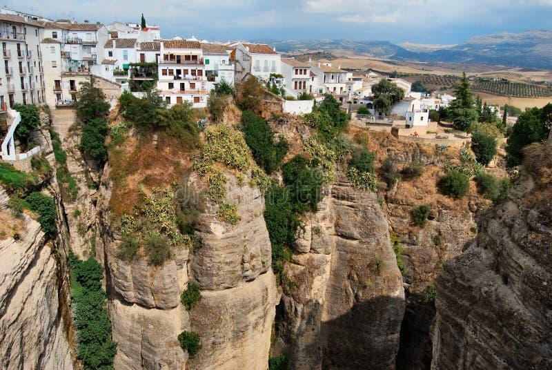 Di van Città Ronda - Spagna royalty-vrije stock afbeeldingen
