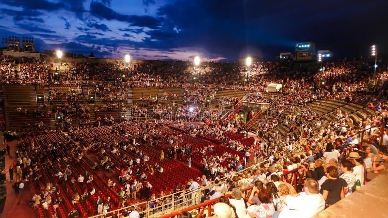 Di Verona dell'arena fotografie stock