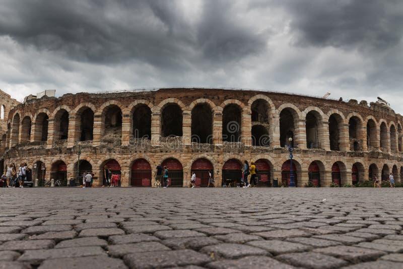 Di Verona, sujetador de la plaza, Verona, Italia de la arena fotografía de archivo libre de regalías