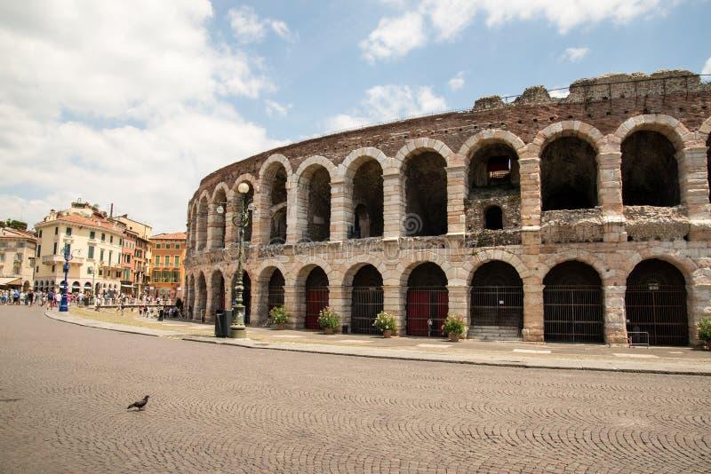Di Verona van de arena stock foto's