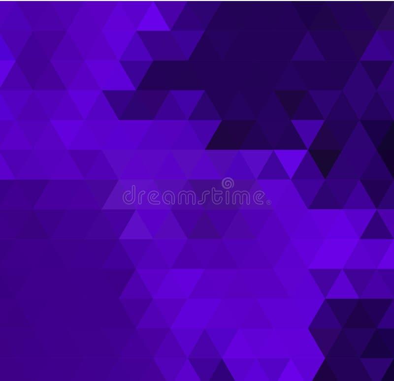 Di vettore poli fondo porpora variopinto dei triangoli in basso Colori neri, viola, bianchi royalty illustrazione gratis