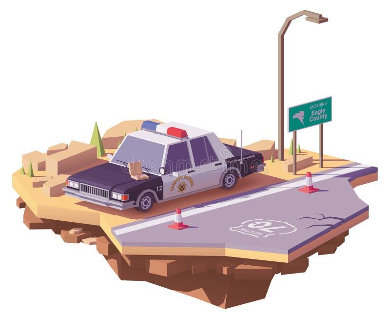 Di vettore poli volante della polizia americano classico in basso illustrazione vettoriale