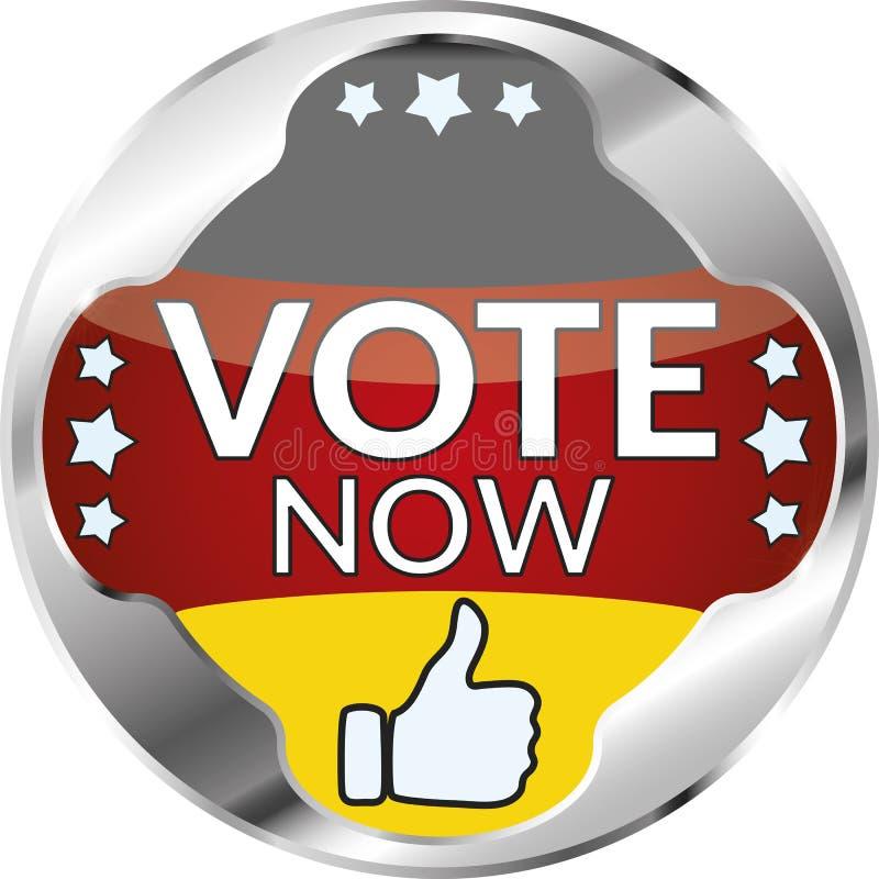 Di voto bottone della Germania ora royalty illustrazione gratis