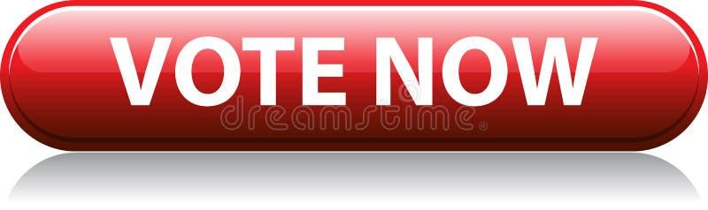 Di voto bottone rosso ora illustrazione vettoriale