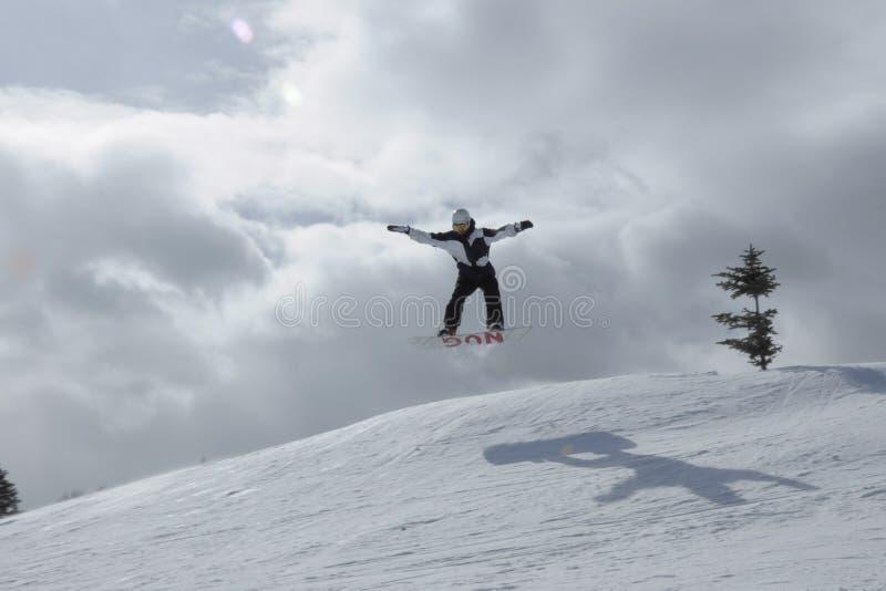 Dia épico cada dia: Beaver Creek da snowboarding, recursos de Vail, Eagle County, Avon, CO foto de stock royalty free