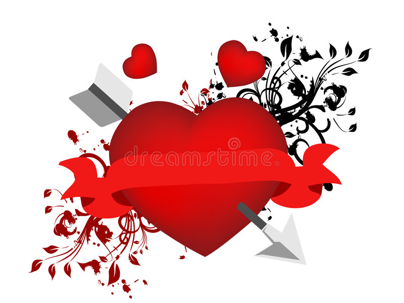 Dia 01 do Valentim ilustração royalty free