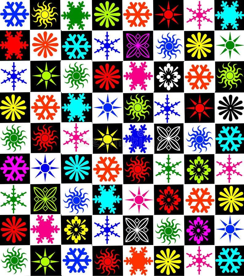 Dia 02 do xmas dos flocos de neve ilustração royalty free