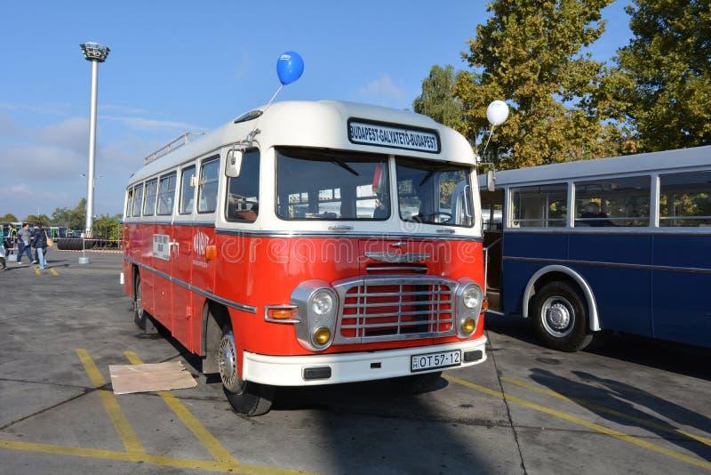 Dia aberto do público na garagem de 40 anos Cinkota XVI do ônibus imagem de stock