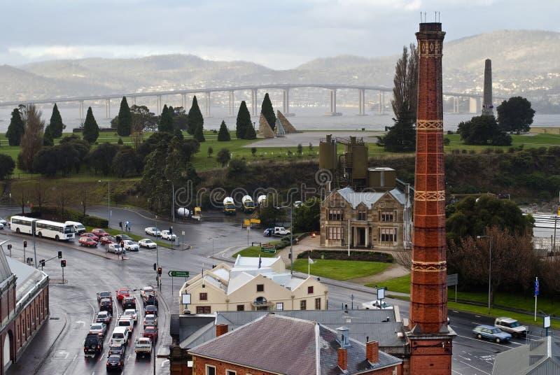 Dia chuvoso em Hobart, Tasmânia imagem de stock royalty free