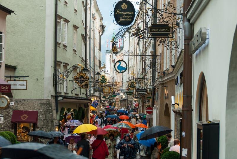 Dia chuvoso em Salzburg II imagens de stock royalty free