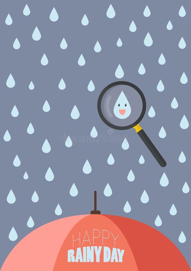 Dia chuvoso feliz ilustração stock