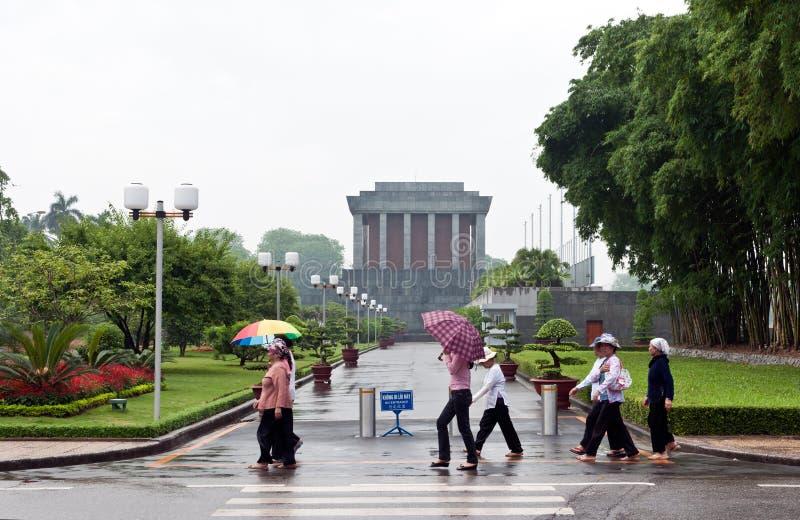 Dia chuvoso no mausoléu de Ho Chi Minh   imagens de stock royalty free