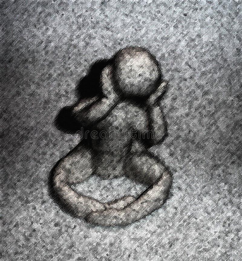 Dia cinzento melancólico ilustração do vetor