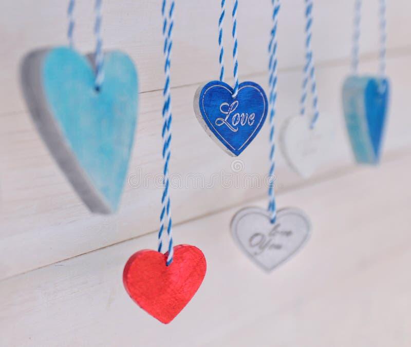 Dia colorido de Valentine's fotos de stock royalty free