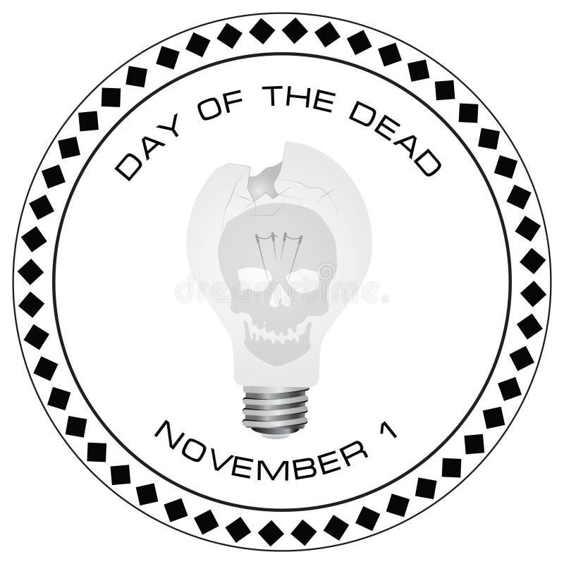 Dia criativo do selo dos mortos ilustração do vetor