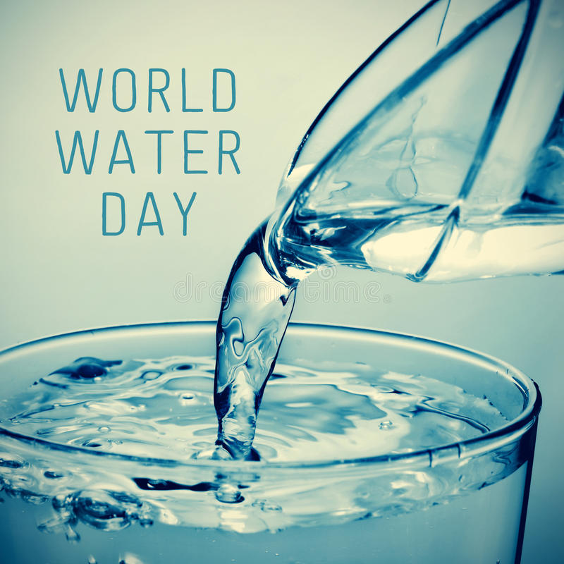 Dia da água do mundo imagens de stock