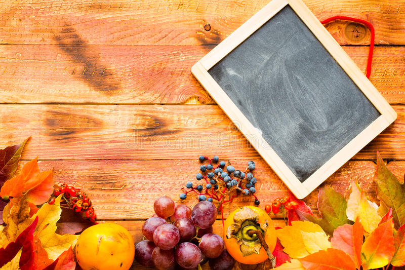 Download Dia Da Ação De Graças, Fundo Das Folhas De Outono Imagem de Stock - Imagem de persimmon, tabela: 80103175