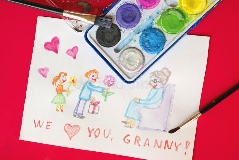Dia da avó imagem de stock