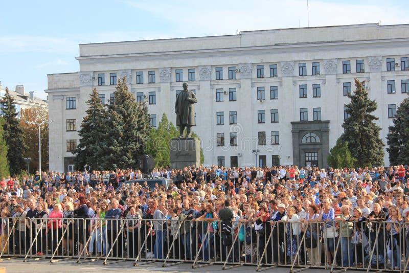 Dia da cidade em Luhansk fotografia de stock